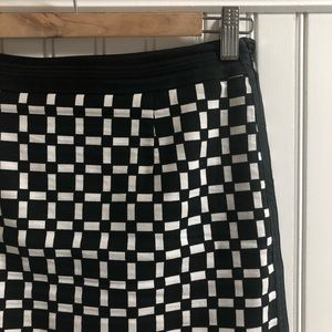 WHBM Checkerboard Like-New Skirt